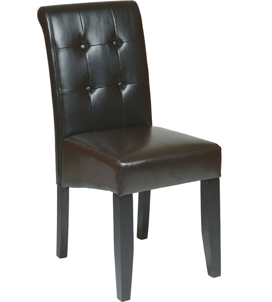 Faux Leather Dining Chair in Dining Chairs : sbutton detailed dining chair espresso from www.organizeit.com size 900 x 1000 jpeg 51kB